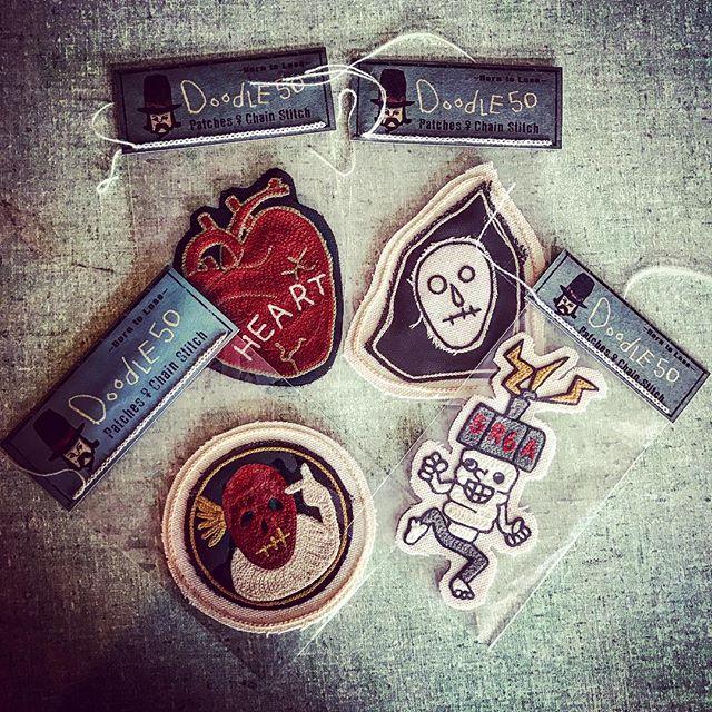 ️️️️️お客様よりご注文頂きました🏻@doodle50 さんのパッチ入荷いたしました️どのデザインも...店頭にも残りわずかですが......ございますので気になった方は是非️filamentへ本日も開店ですよ〜〜️️️️️#filament#vintage #vintageshop #doodle50 #ビンテージ雑貨 #ハンドルミシン刺繍 #チェーンステッチ#十勝のビンテージ雑貨屋 #北海道